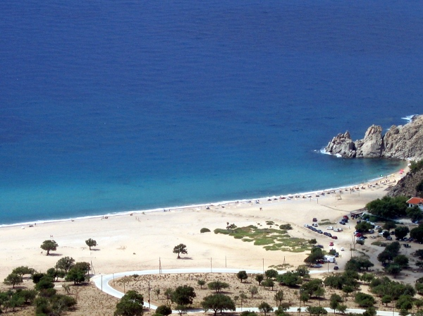 "Our settlement is the closest to the island's most well-known beach, Pachia Ammos (meaning ""thick sand"")"